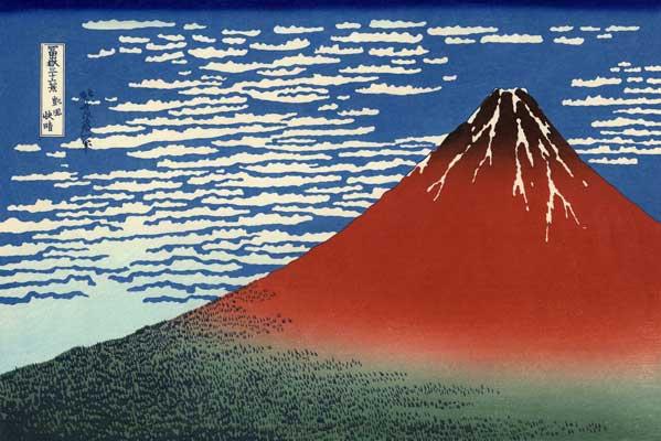 日本の誇る 世界遺産の富士山の赤富士①