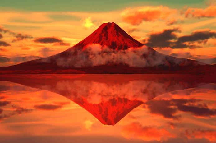 日本の誇る 世界遺産の富士山の赤富士②