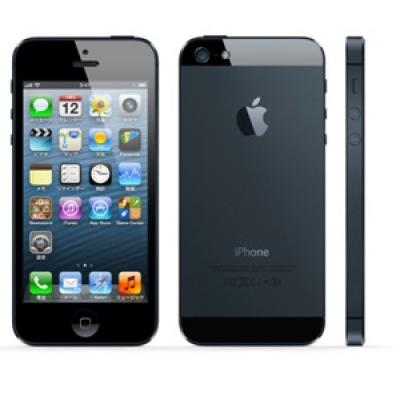 au Apple iPhone5 color Black