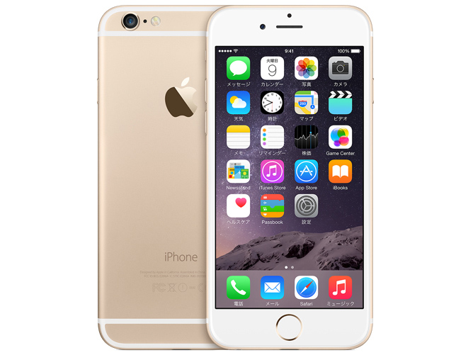 docomo Apple iPhone 6 color Gold