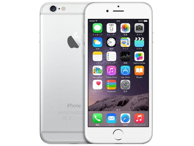 docomo Apple iPhone 6 color Silver