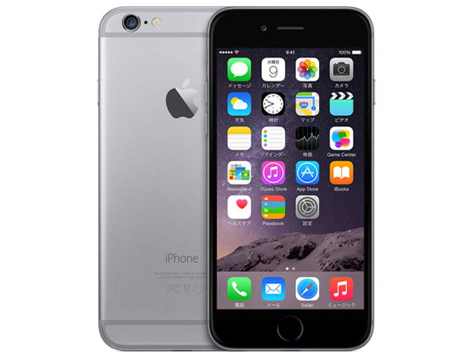 docomo Apple iPhone 6 color Spacegray