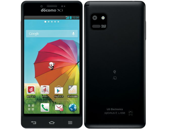 docomo LG Optimus it L-05E color Black