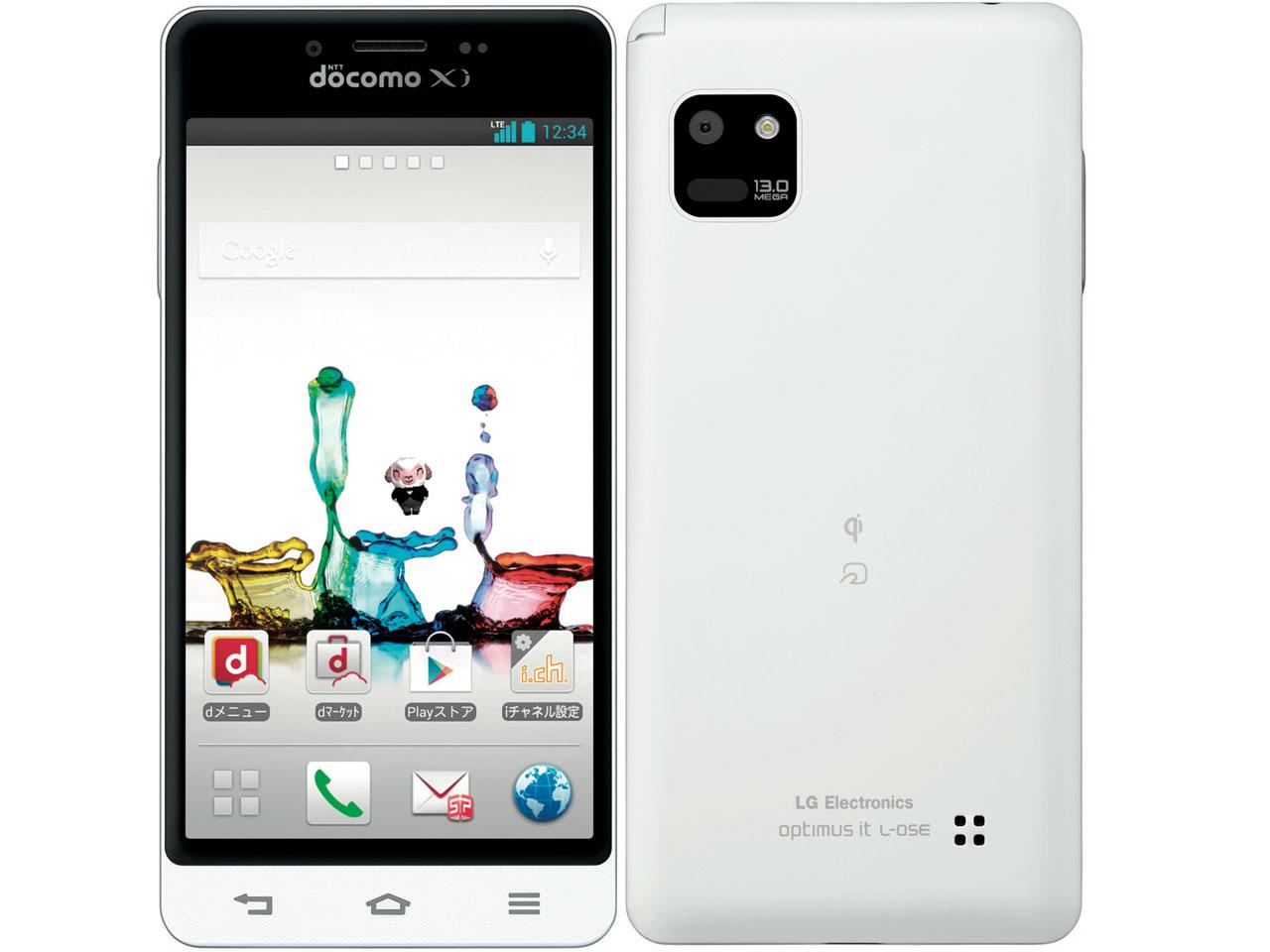 docomo LG Optimus it L-05E color White