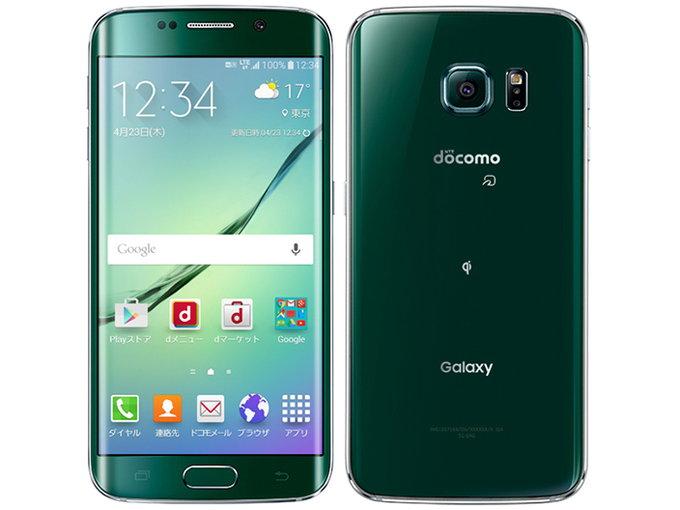 docomo SAMSUNG Galaxy S6 edge SC-04G color Green