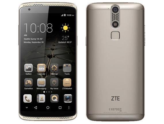 SIMフリー ZTE/ゼットティーイー AXON mini イオンゴールド