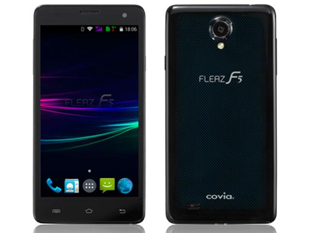 SIMフリー COVIA/コヴィア FLEAZ F5 CP-F50AK グリーンドット(ブラック)